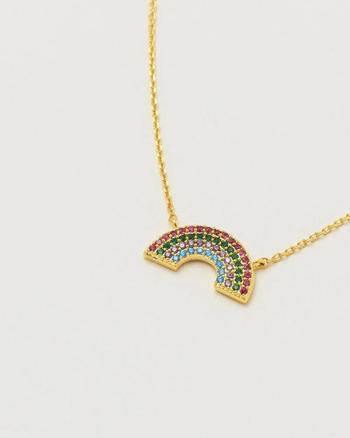 Estella Bartlett rainbow crystal necklace is available to buy online from Damsel in Chiswick