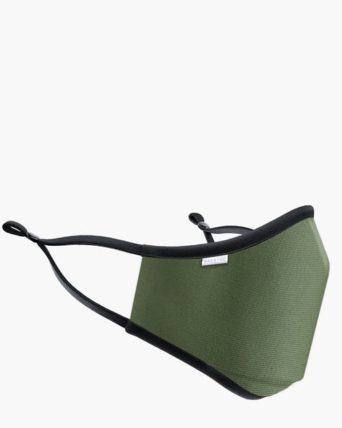 Breathe face mask in khaki is available to buy online from Damsel in Chiswick