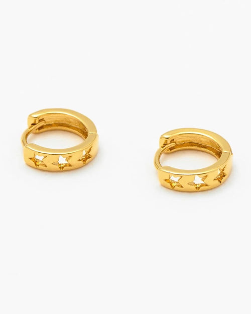 Estella Bartlett cutout star mini hoop earrings from Damsel in Chiswick