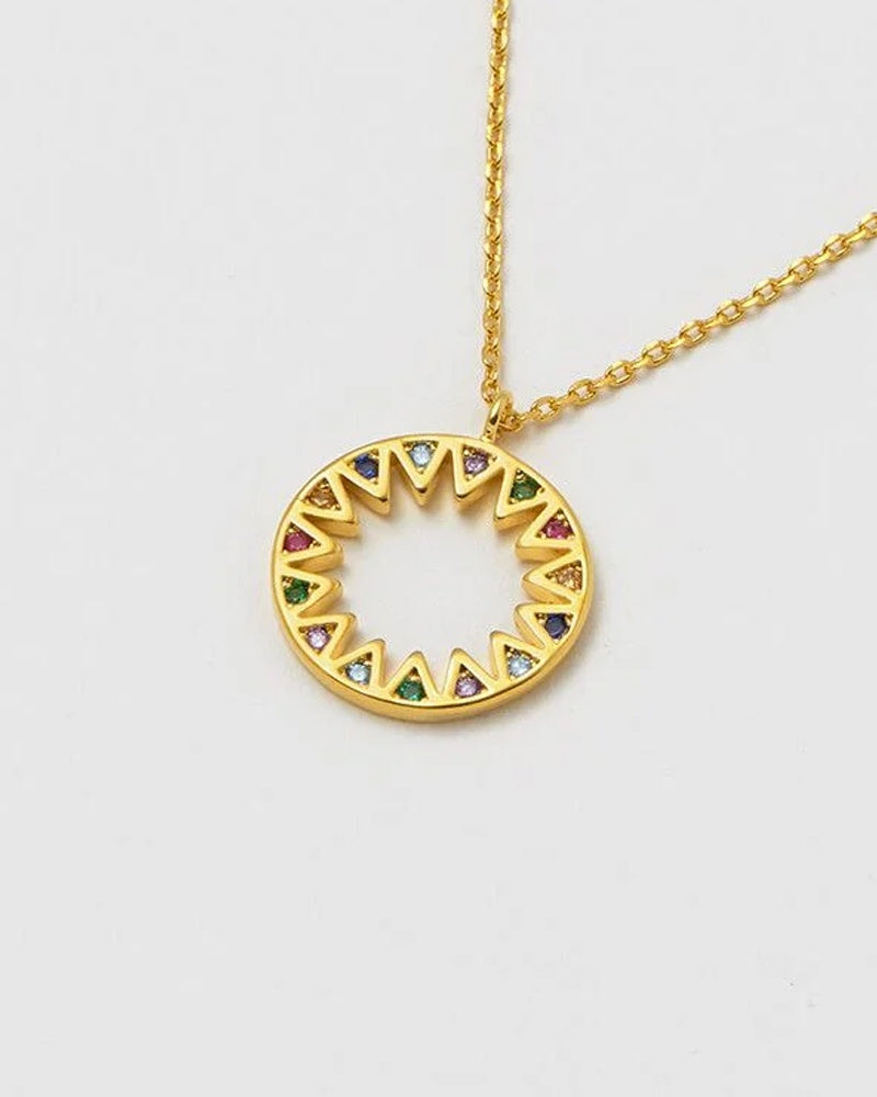 Estella Bartlett rainbow sunburst necklace is available to buy online from Damsel in Chiswick