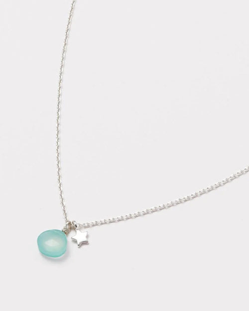 Estella Bartlett aqua chalcedony and star necklace available to buy online from Damsel in Chiswick