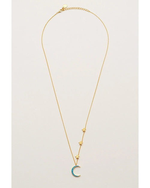 Estella bartlett moon and stars necklace is available to buy online from Damsel in Chiswick