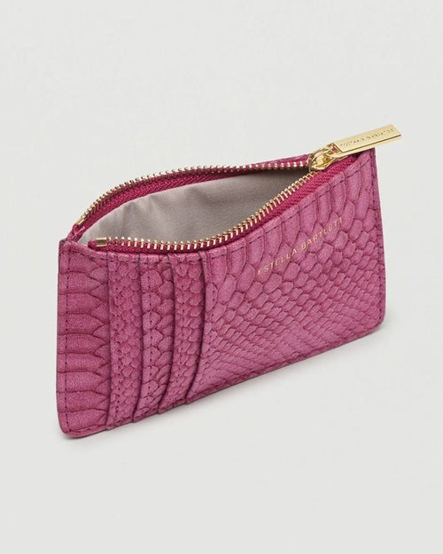 Estella Bartlett burgundy card purse is available to buy online from Damsel in Chiswick