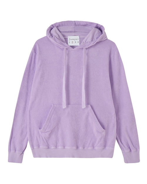 Jumper 1234 hoodie in lavender is available to buy online from Damsel in Chiswick