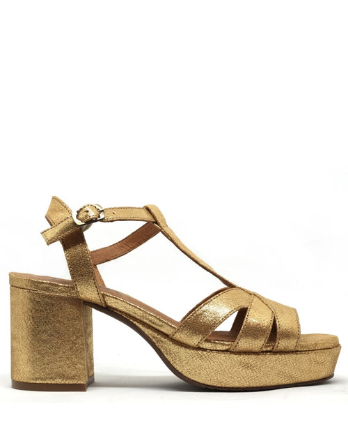 Esska charlie shoes in gold are available to buy online from Damsel in Chiswick
