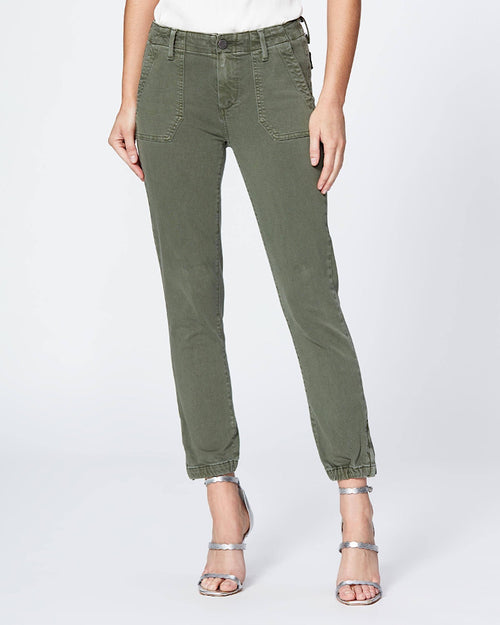 Paige mayslie trouser in khaki available to buy online from Damsel in Chiswick