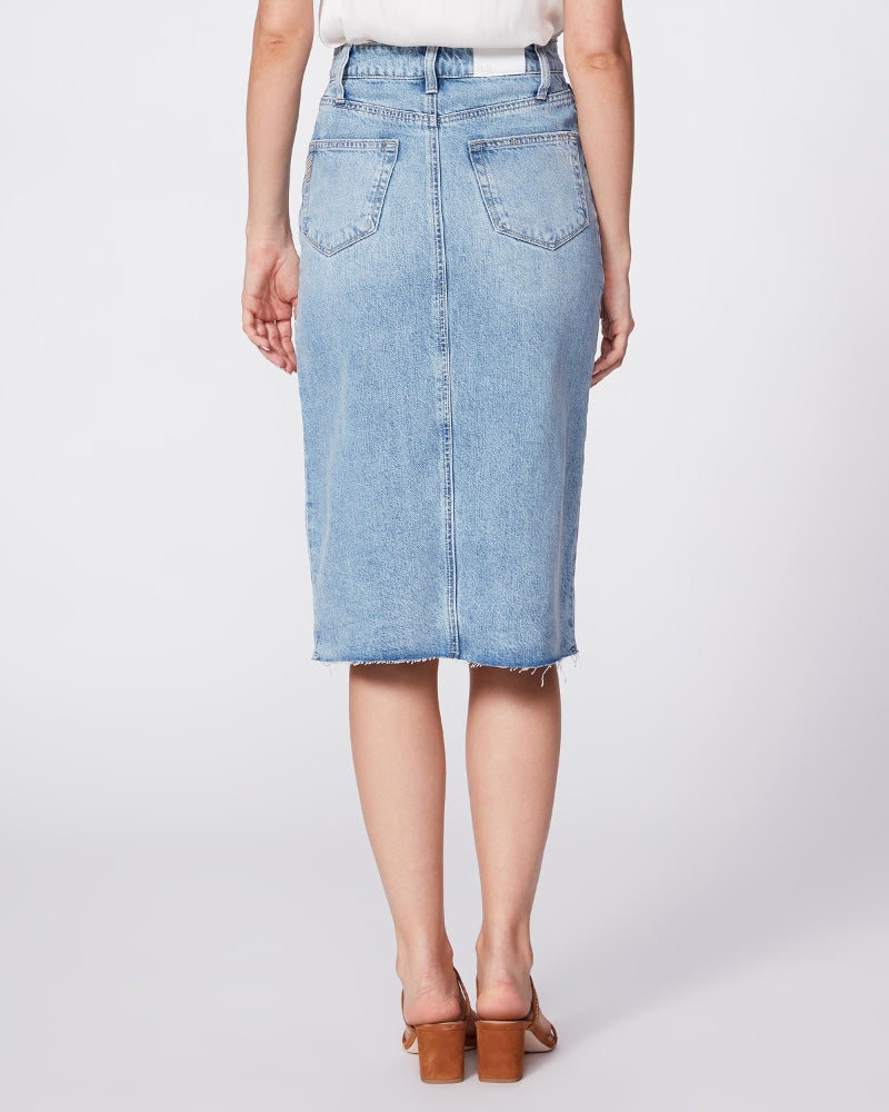 Paige denim skirt with front split available from Damsel in London