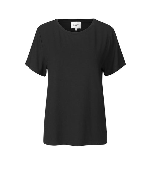 Second Female classic black tee is available to buy from Damsel in Chiswick