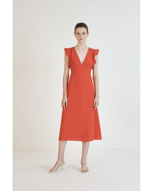 Suncoo red clayton dress is available to buy from Damsel in Chiswick