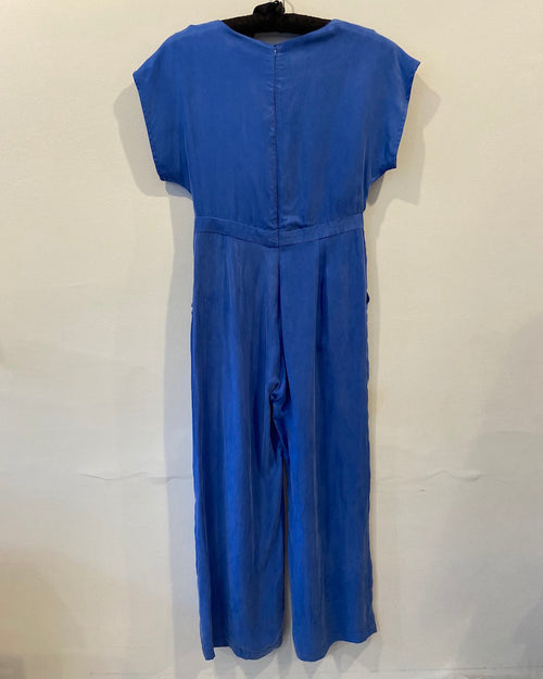 Blue playsuit from Parisian brand Suncoo is available to buy online from Damsel in London