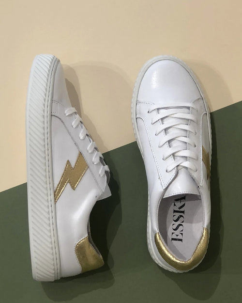 Esska white nola trainers are available to buy online from Damsel in Chiswick