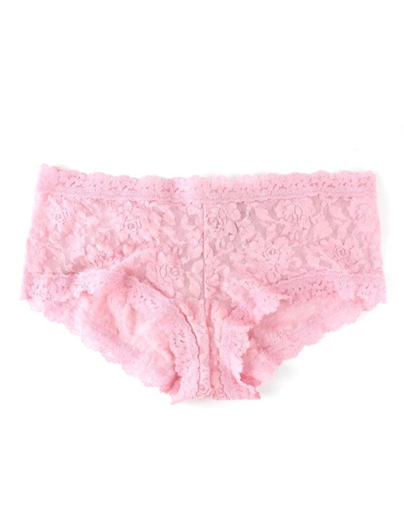 Hanky Panky boyshorts in meadow rose is available to buy online from Damsel in Chiswick