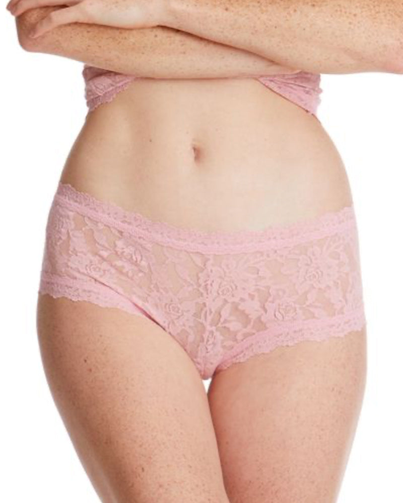 Hanky Panky meadow rose boyshorts are available to buy online from Damsel in Chiswick