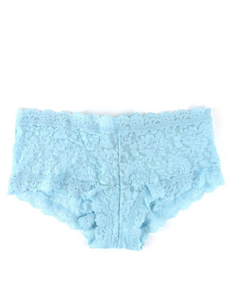 Hanky Panky boyshorts in rain cloud blue are available to buy online from Damsel in Chiswick