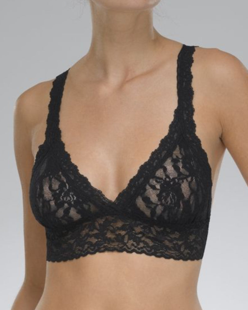 Hanky Panky bralette in black signature lace is available to buy online from Damsel in Chiswick