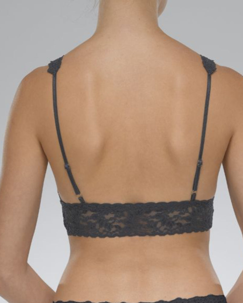 Hanky Panky black signature lace bralette is available to buy online from Damsel in Chiswick