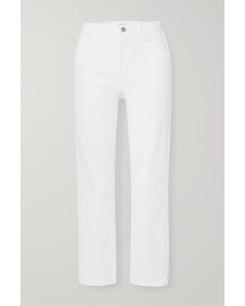 J Brand alma jeans in white are available to by online from Damsel in Chiswick