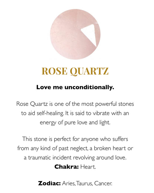 SVP rose quartz meaning card at Damsel in Chiswick