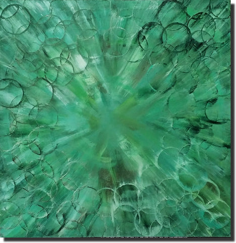 Contemporary Abstract Painting Paul Shampine Green