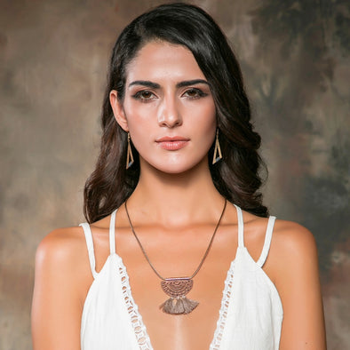 Rope Necklace with Tassel Pendant