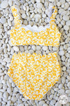 Mommy and Me - Yellow & White Scalloped Edge Two Piece Set