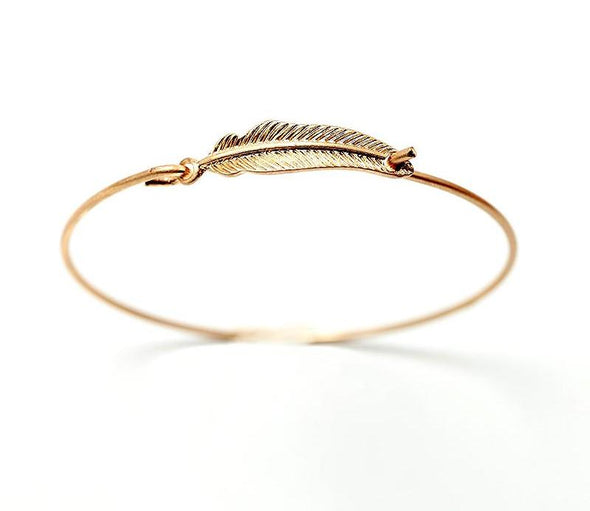 Vintage Gold Leaf Bangle