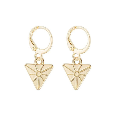 Cartilage Hoop Earrings - Triangle
