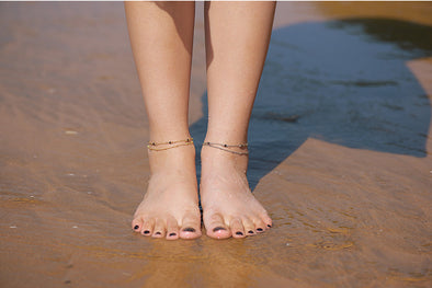 Black Beach Anklet