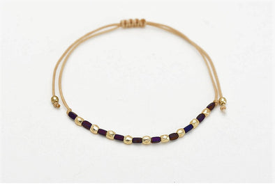 Thin Beaded Stacker Bracelet