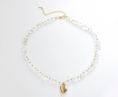 Crystal Puka Shell Necklace