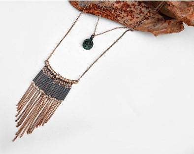 Patina Ethnic Necklace