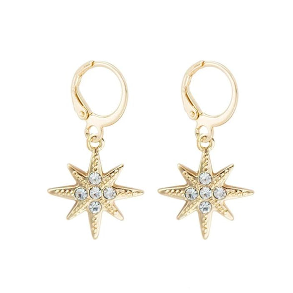 Cartilage Hoop Earrings - Diamond Star