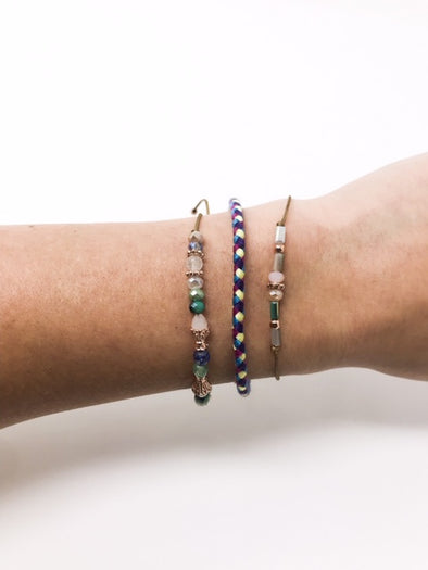 3 Piece Beaded Stacker Bracelets