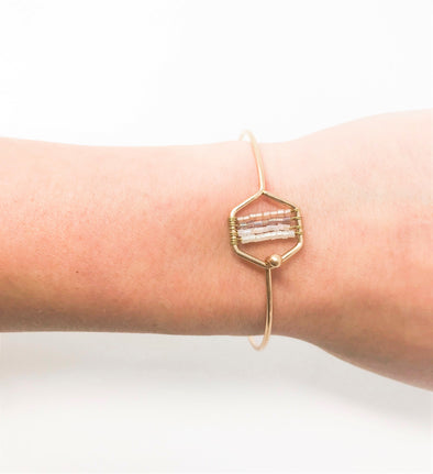 Geometric Bead Bangle