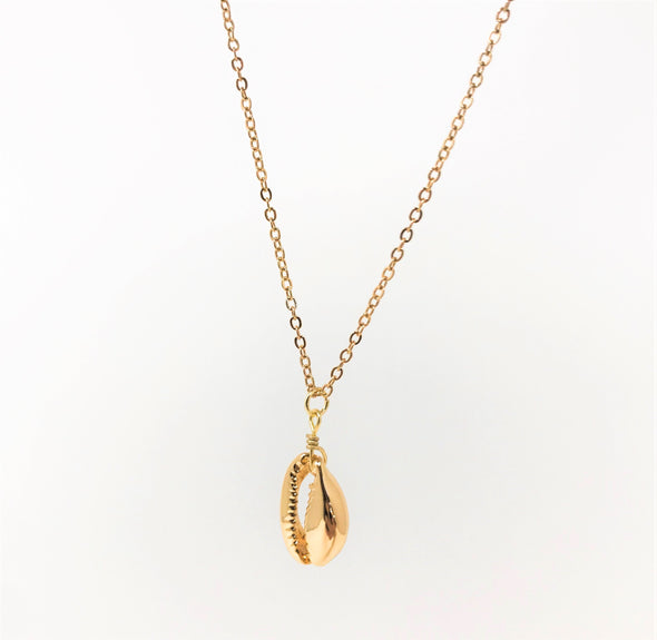Gold Single Puka Shell Necklace