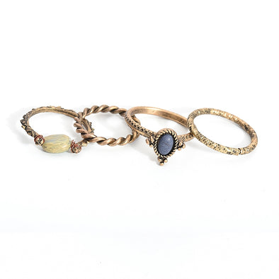 Boho Beach Ring Set (4Pcs)