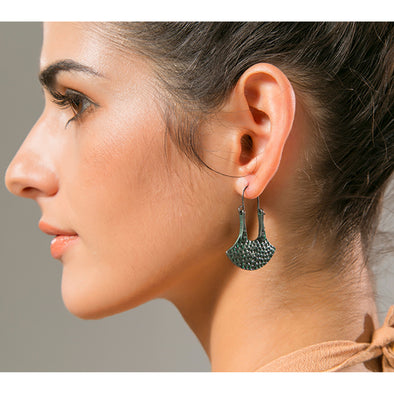 Ethnic Hammered Earrings