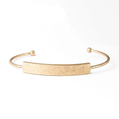 Boho Gold Metal Open Bangle