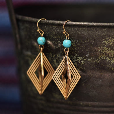 Geometric Drop Dangle Earrings