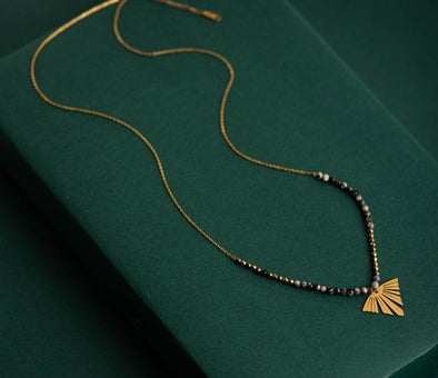 Gold Leaf Charm Necklace