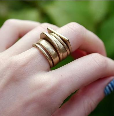 6 Piece Vintage Stacked Ring Set