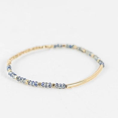 Blue Crystal Bead Bracelet