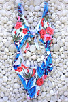 Mommy and Me - Pink & Blue Floral One Piece
