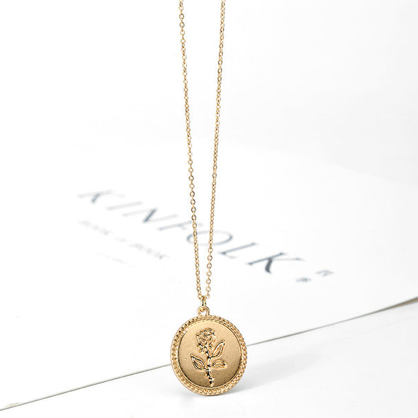 Rose Coin Necklace (FREE Just Cover S/H)