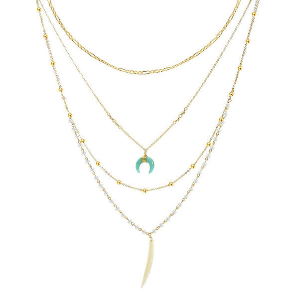 Beaded Harmony Multi-layer Necklace