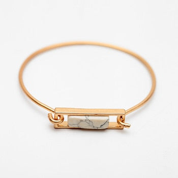 Howlite Geometric Bangle