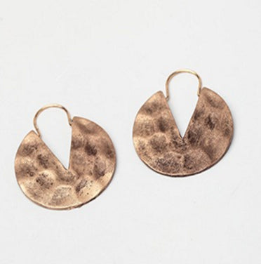Antique Hammered Drop Earrings