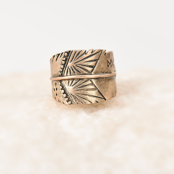 Leaf Knuckle Ring
