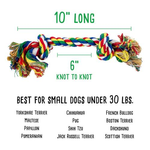 Cotton Flossin' Rope Bone Dog Toy