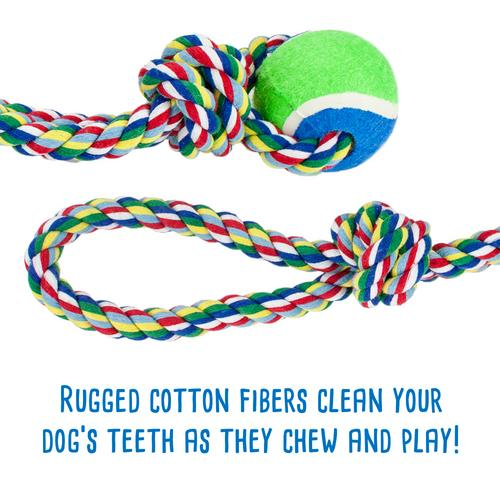 Toss'n'Floss Fling Rope with Tennis Ball